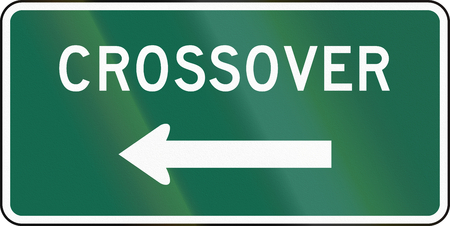 crossover: United States MUTCD guide road sign - Crossover.