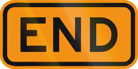 end of road: United States MUTCD road sign - End.