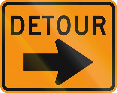 United States MUTCD road sign - Detour.