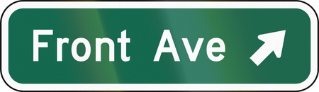 ave: United States MUTCD guide road sign - Destination sign.