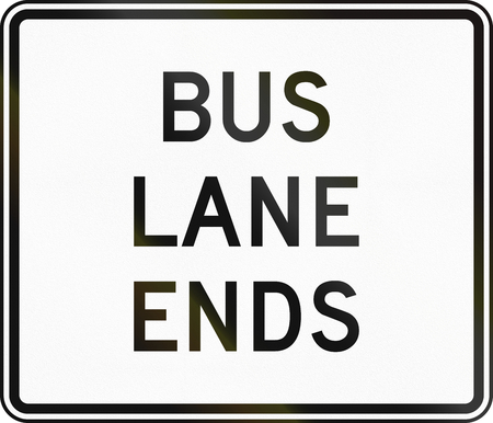ends: United States MUTCD regulatory road sign - Bus lane ends.