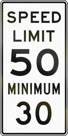 United States MUTCD regulatory road sign - Speed limit. Stock fotó