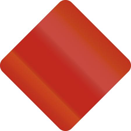 united states mutcd diamond shape template road sign stock photo