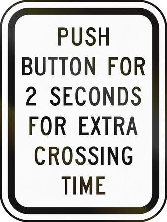 paso de peatones: Estados Unidos MUTCD se�al de tr�fico - instrucciones paso de peatones.