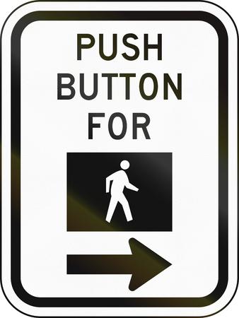 paso de cebra: Estados Unidos MUTCD señal de tráfico - instrucciones paso de peatones.