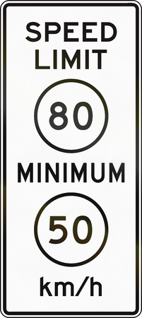 limit: United States MUTCD road sign - Speed limit. Stock Photo