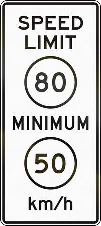 United States MUTCD road sign - Speed limit. Stock fotó