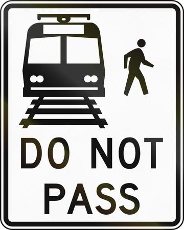 no pase: Estados Unidos carretera MUTCD signo - No pase.