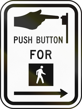 paso de peatones: Estados Unidos MUTCD señal de tráfico - instrucciones paso de peatones.