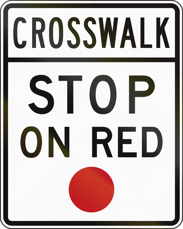 crosswalk: United States MUTCD road sign - Crosswalk.