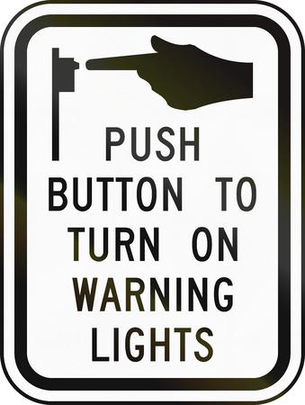 senda peatonal: Estados Unidos MUTCD señal de tráfico - instrucciones paso de peatones.