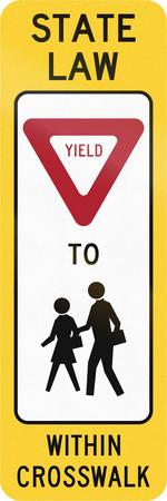 paso de cebra: Estados Unidos MUTCD la carretera de cruce signo - Ceda el paso a los ni�os.
