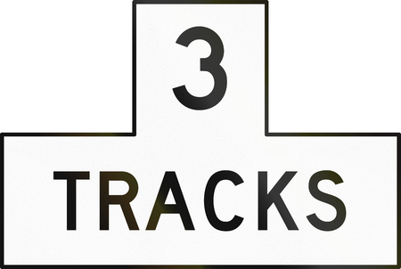 multiple image: United States MUTCD road sign - 3 Tracks.