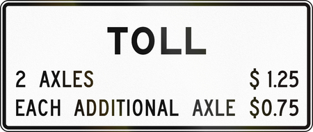toll: United States MUTCD road sign - Toll. Stock Photo