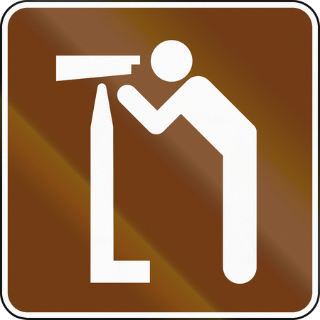 outlook: United States MUTCD guide road sign - Outlook. Stock Photo