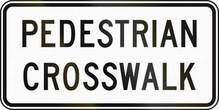 pedestrian: United States MUTCD road sign - Pedestrian crosswalk.