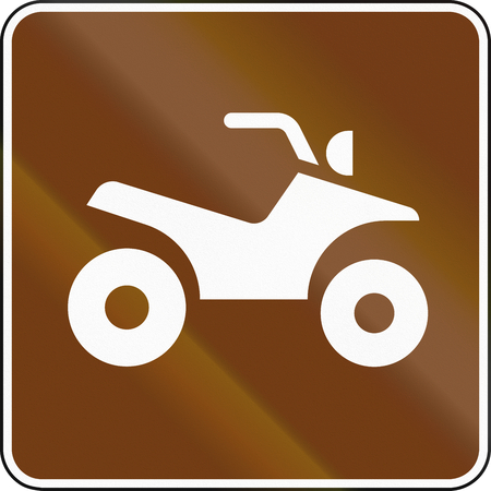 atv: United States MUTCD guide road sign - ATV.