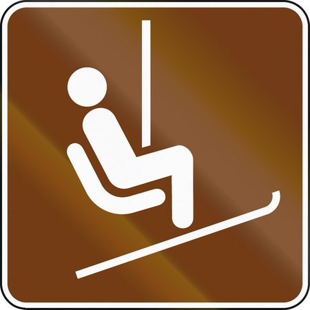 chairlift: United States MUTCD guide road sign - Chairlifts.