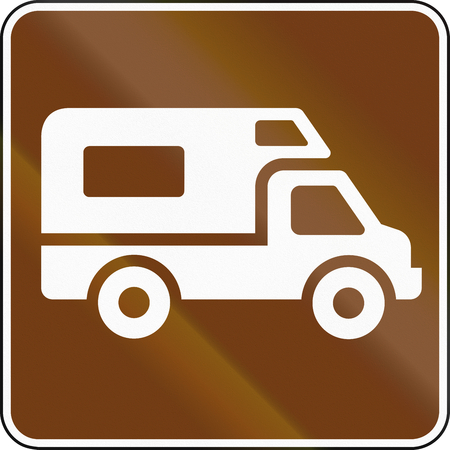 recreational: United States MUTCD guide road sign - Recreational Vehicle Site.