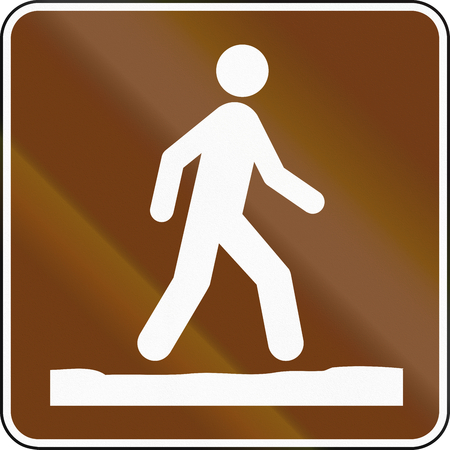 quadratic: United States MUTCD guide road sign - Stay on trail.
