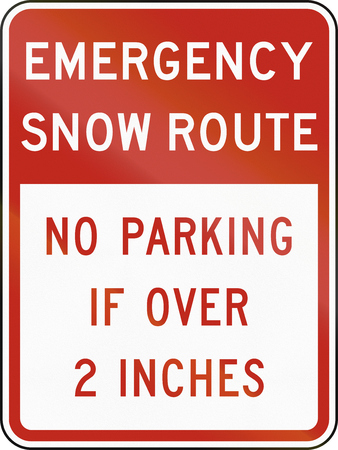 regulatory: United States MUTCD regulatory road sign - Emergency snow route.