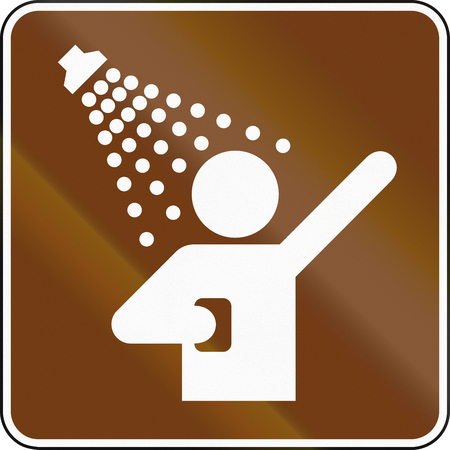 United States MUTCD guide road sign - Shower.