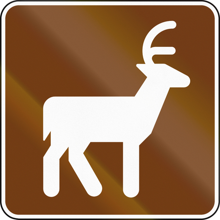 quadratic: United States MUTCD guide road sign - Deer Viewing Area.