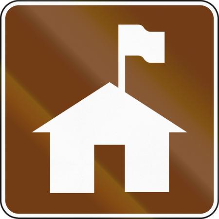 lodge: United States MUTCD guide road sign - Lodge.