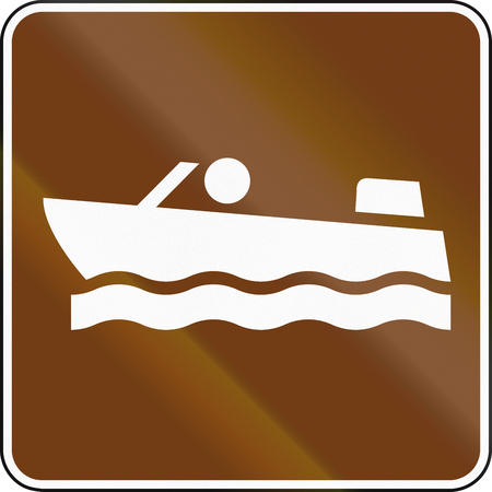 motorboats: United States MUTCD guide road sign - Motorboats.