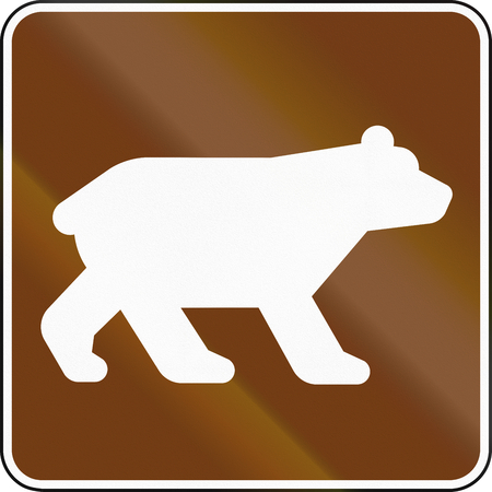 informational: United States MUTCD guide road sign - Bear Viewing Area.