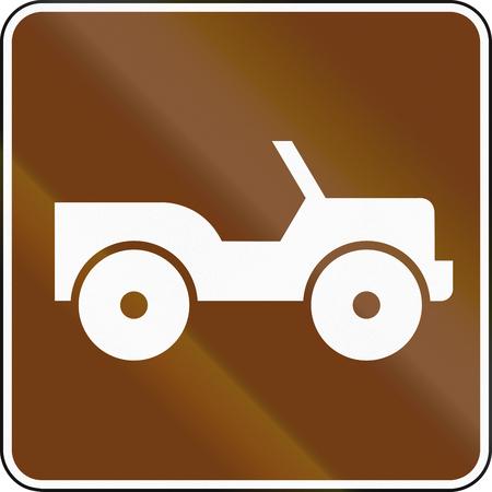 jeep: United States MUTCD guide road sign - Jeep rental.