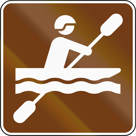 guide: United States MUTCD guide road sign - Kayaking.