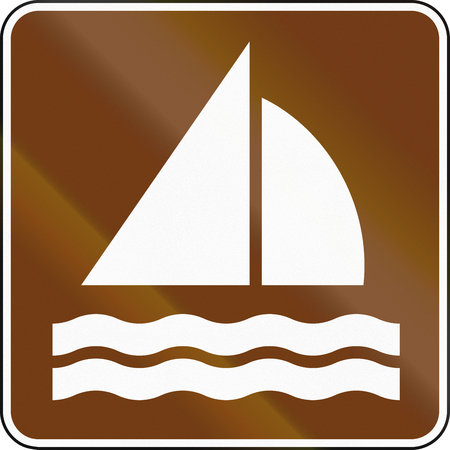 guide: United States MUTCD guide road sign - Sailing.