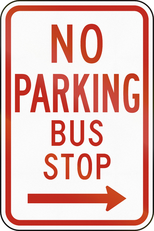 regulatory: United States MUTCD regulatory road sign - No parking.