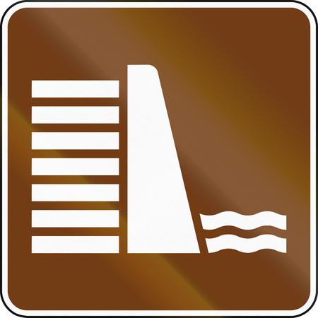 dam: United States MUTCD guide road sign - Dam.