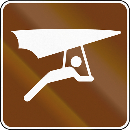 hang gliding: United States MUTCD guide road sign - Hang gliding.