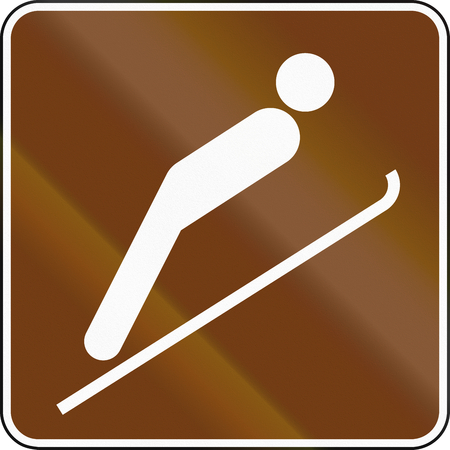 informational: United States MUTCD guide road sign - Ski jumping.