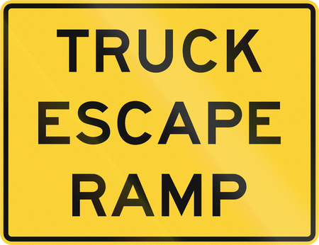 escape: United States MUTCD warning road sign - Truck escape ramp.