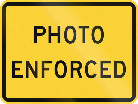 enforced: United States MUTCD road sign - Photo enforced. Stock Photo