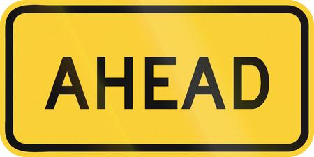 ahead: United States MUTCD warning road sign - Ahead. Stock Photo