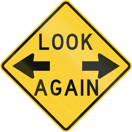 both: Road sign used in the US state of Nebraska - Look again.