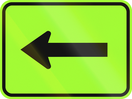 direction sign: United States MUTCD warning road sign - Direction sign.