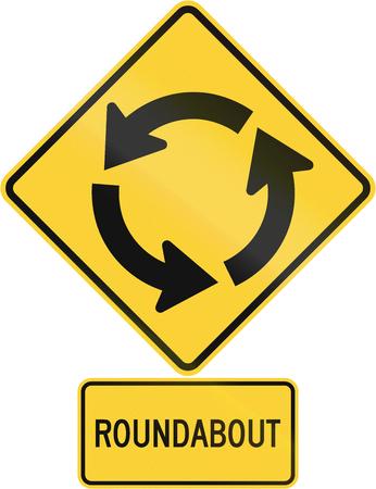 United States MUTCD road warning sign assembly. Zdjęcie Seryjne