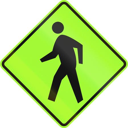 pedestrians: United States MUTCD road sign - Pedestrians.
