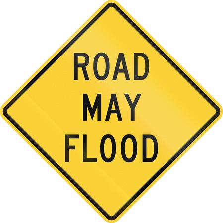 roadworks: United States MUTCD road sign - Road may flood.