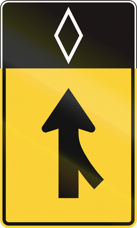 merge: United States MUTCD road sign - Merge lane.