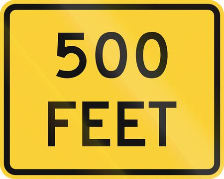 roadworks: United States MUTCD road sign - 500 Feet.