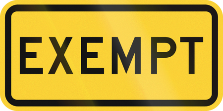 exempt: United States MUTCD road sign - Exempt.