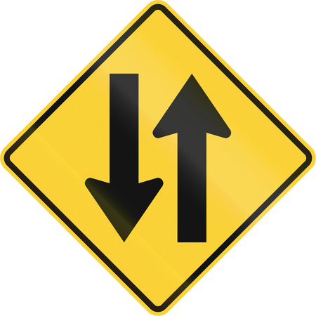 two way: United States MUTCD road sign - Two way traffic.