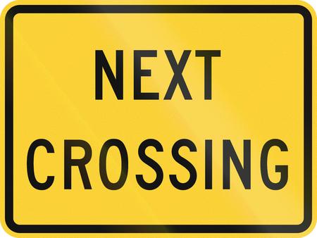 railroad crossing: United States MUTCD road sign - Next crossing. Stock Photo